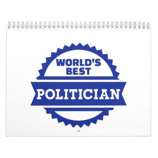 El mejor político del mundo calendarios de pared