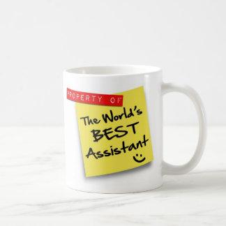 El mejor poste auxiliar del mundo taza básica blanca