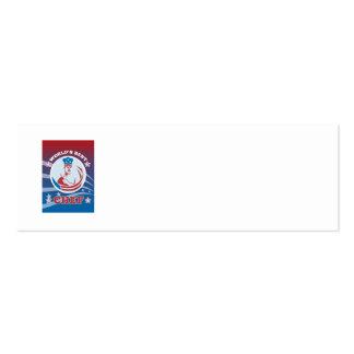 El mejor poster americano de la tarjeta de felicit tarjeta de visita