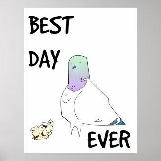 El mejor poster siempre afortunado de la paloma póster