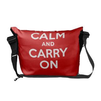 El mejor precio auténtico guarda calma y continúa  bolsa messenger
