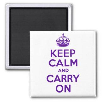 El mejor precio guarda calma y continúa púrpura y imán cuadrado