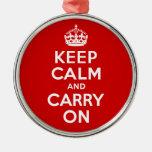 El mejor precio guarda calma y continúa rojo y bla adorno para reyes
