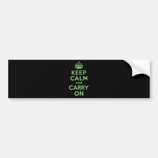 El mejor precio guarda calma y continúa verde pegatina para auto