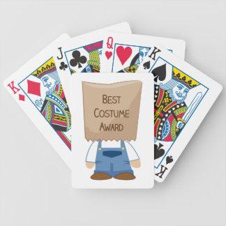 El mejor premio del traje baraja de cartas