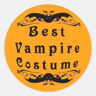 El mejor premio del traje del vampiro pegatina redonda