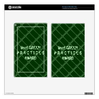 El mejor premio VERDE de las prácticas - cambie la Pegatina Skin Para Kindle Fire