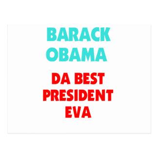 El mejor presidente EVA de Barack Obama DA Postal