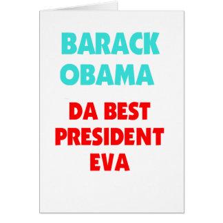 El mejor presidente EVA de Barack Obama DA Tarjeta