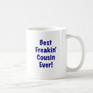 El mejor primo de Freakin nunca Taza Clásica