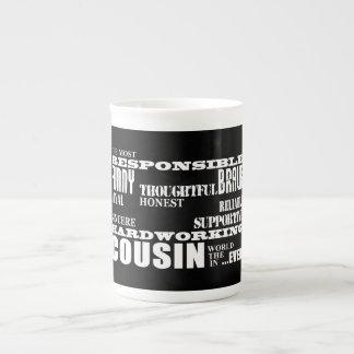 El mejor primo más grande 4 de los primos masculin taza de porcelana