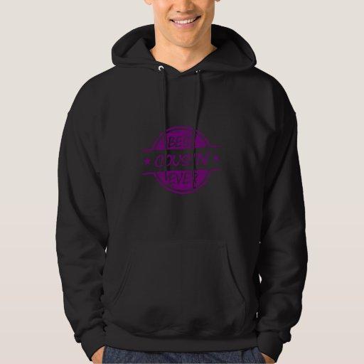 El mejor primo siempre púrpura jersey encapuchado