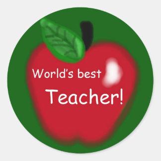 El mejor profesor Apple del mundo en el pegatina