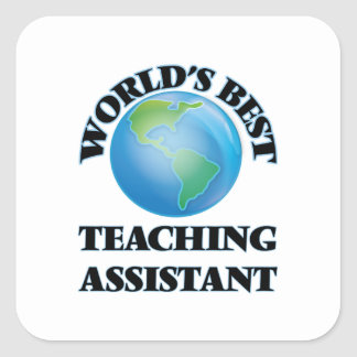 El mejor profesor ayudante del mundo pegatina cuadrada