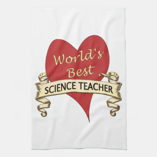 El mejor profesor de ciencias del mundo toallas de mano