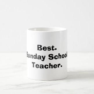 El mejor profesor de escuela dominical taza