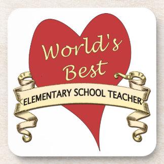 El mejor profesor de escuela elemental del mundo posavasos