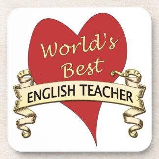 El mejor profesor de inglés del mundo posavasos de bebida