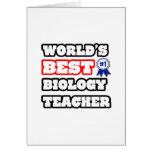 El mejor profesor de la biología del mundo tarjeta