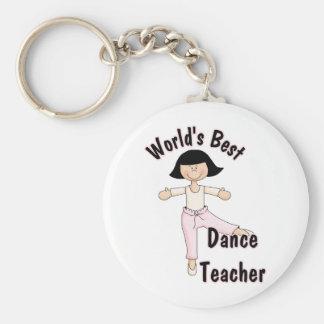 El mejor profesor de la danza del mundo llavero redondo tipo pin