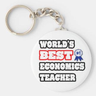 El mejor profesor de la economía del mundo llaveros personalizados
