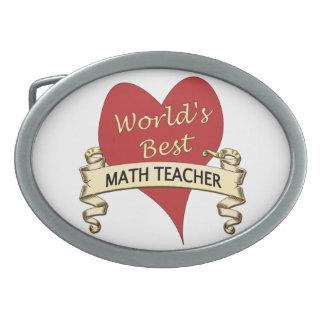 El mejor profesor de la matemáticas del mundo hebillas cinturon ovales
