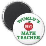El mejor profesor de la matemáticas del mundo imanes de nevera