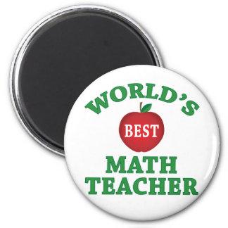 El mejor profesor de la matemáticas del mundo imán redondo 5 cm