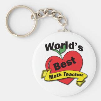 El mejor profesor de la matemáticas del mundo llavero redondo tipo pin