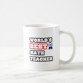 El mejor profesor de la matemáticas del mundo taza clásica