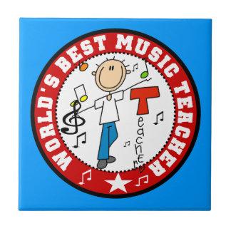 El mejor profesor de la música del mundo azulejo cuadrado pequeño