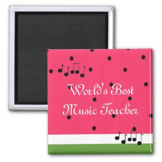 El mejor profesor de la música del mundo imán cuadrado