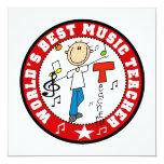 El mejor profesor de la música del mundo invitaciones personalizada