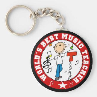 El mejor profesor de la música del mundo llavero redondo tipo pin