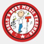 El mejor profesor de la música del mundo etiquetas redondas