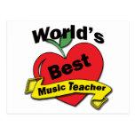 El mejor profesor de la música del mundo tarjetas postales