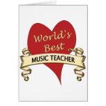 El mejor profesor de la música del mundo tarjeton