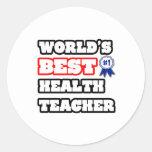 El mejor profesor de la salud del mundo etiqueta redonda