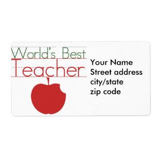 El mejor profesor de los mundos etiqueta de envío