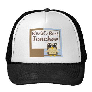 El mejor profesor de los mundos gorros bordados