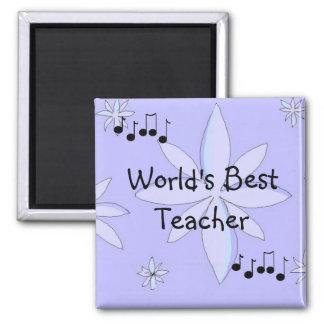 El mejor profesor de los mundos imán cuadrado