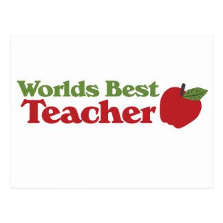 El mejor profesor de los mundos tarjeta postal