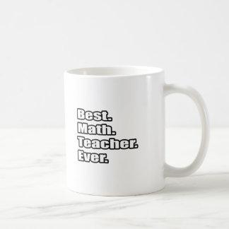 El mejor profesor de matemáticas nunca tazas