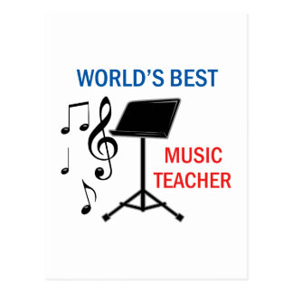 El mejor profesor de música tarjetas postales