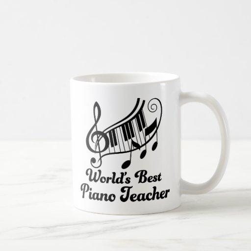 El mejor profesor de piano de los mundos tazas de café