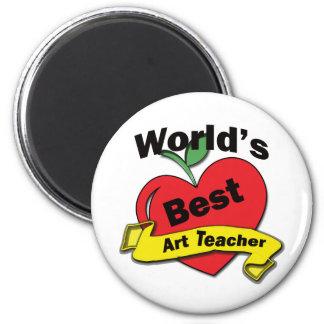 El mejor profesor del arte del mundo imán redondo 5 cm