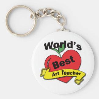 El mejor profesor del arte del mundo llavero redondo tipo pin
