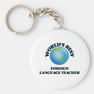 El mejor profesor del idioma extranjero del mundo llaveros personalizados