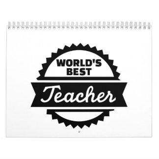 El mejor profesor del mundo calendarios