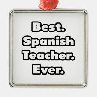 El mejor. Profesor español. Nunca Ornamento Para Arbol De Navidad